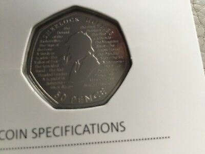 2019 Sherlock Holmes BU 50p Brilliant Uncirculated Royal Mint Coin READY TO POST