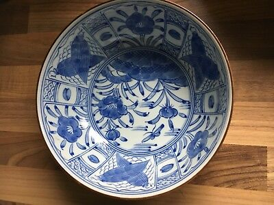 Vintage Antique Chinese Blue &white Bowl