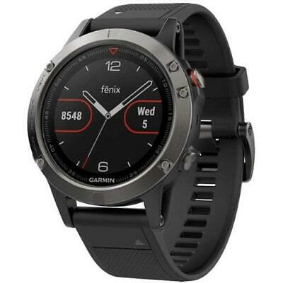 Garmin Fenix 5 Wrist HR Sports Watch Multisport Activity Slate Grey Black Band
