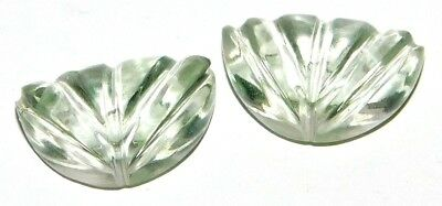 Green Amethyst Pair Natural Cabochon Loose Gemstone Lot 12Ct. 2Pcs SA28174