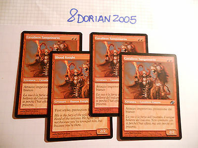 4x MTG Blood Knight-Cavaliere Sanguinario Magic EDH PC Planar Chaos ITA-ING x4