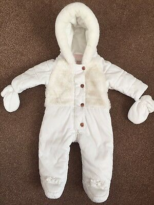 Stunning ted baker baby girl snowsuit 3-6 Months In Excellent Used Condition
