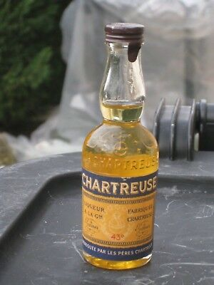 mignonnette OLD MINIATURE COGNAC mini bottle de chartreuse