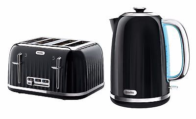 Breville Impressions Kettle & 4, Slice Matching Toaster Set in High Gloss Black