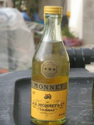 mignonnette OLD MINIATURE COGNAC mini bottle monnet 5 cl