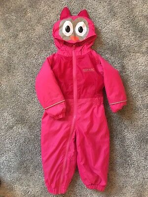 Pink Regatta Puddle Suit 6-12 Months Snow Rain All In One Coat