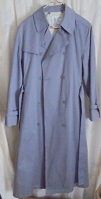 London Fog gray Maincoats Trench Coat Womens 14R Stamped Irregular