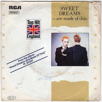 """7"""" Single - EURYTHMICS - Sweet Dreams (are made of this)"""