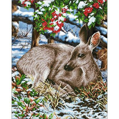 DIAMOND DOTZ Embroidery Facet Art 5D Painting Beads QUIET MOMENT Deer in Snow
