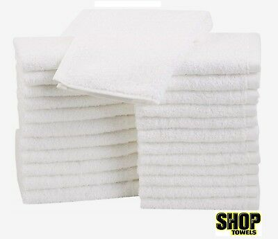 50 PACK terrycloth shop rags towels cleaning wiping 100% COTTON janitorial 12x12