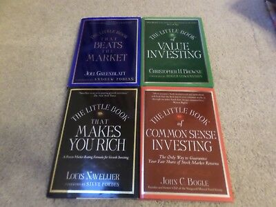 THE LITTLE BOOK LOT OF 4 Makes You Rich,Investing,Beats the Market