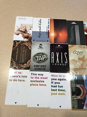 (27) room key cards the cove ,hard rock aria,mgm, trump,from all over   florida