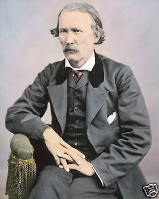 """KIT CARSON FRONTIERSMAN & OLD WEST LEGEND 8x10"""" HAND COLOR TINTED PHOTOGRAPH"""