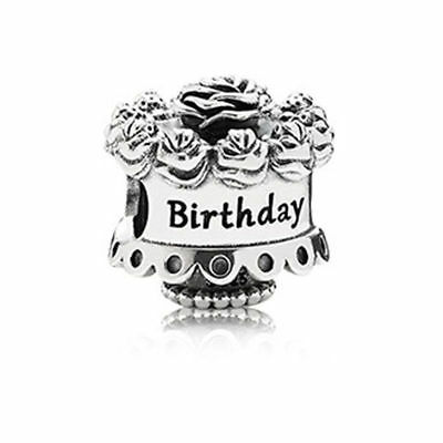 New Authentic Genuine Silver Pandora Happy Birthday cake charm  791289