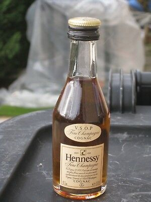 mignonnette OLD MINIATURE COGNAC mini bottle hennessy