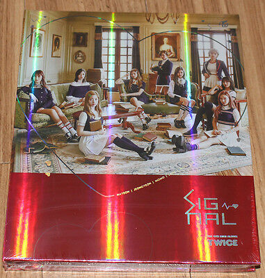 TWICE SIGNAL 4th Mini Album A Ver. K-POP CD + PHOTOCARD SET + POSTER IN TUBE NEW