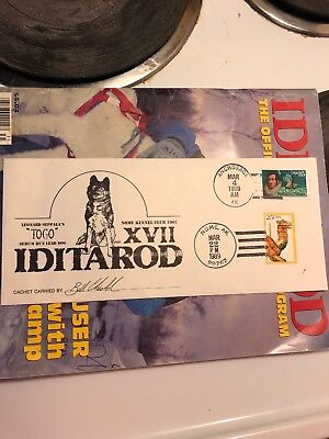 Bill Chisholm Signed Iditarod Cachet - 1989 Nome Alaska, Featuring TOGO On Cover