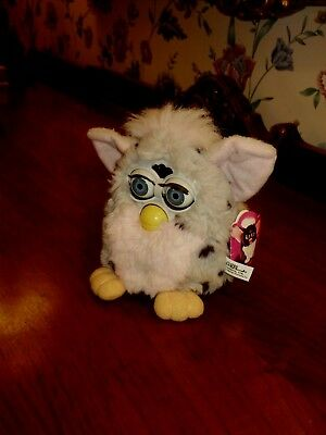 H-T-F 1998 Pink Ear & Belly Furby Tiger Electronics W/ Org Tag Attached Works!!