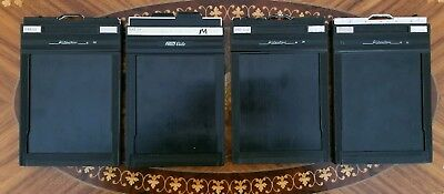 Fidelity Elite and Riteway Graphic 4x5 Large Format Film Holders Lot Set of 4