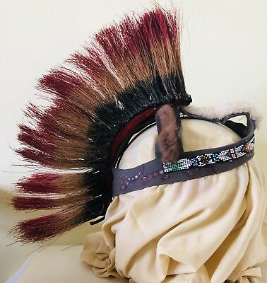 Vintage Authentic Native American Headdress