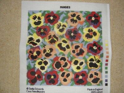 Tapestry Canvas Printed Pansies