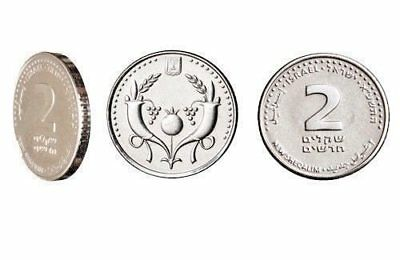 new 2 Israeli Shekel Coin Two Sheqel Silver Color Holy Land Judaica nis Hebrew 1