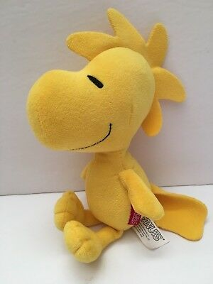 "Peanuts Snoopy Yellow Woodstock 8"" Plush Toy Bird Stuffed Animal Charlie Brown"