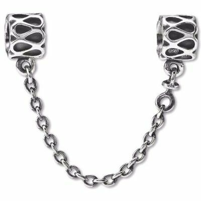New Authentic Genuine PANDORA sterling silver raindrop Safety Chain 790315