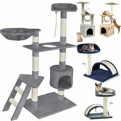 Large Cat Tree Scratching Post Activity Centre Pet House Cat Climbing for Small