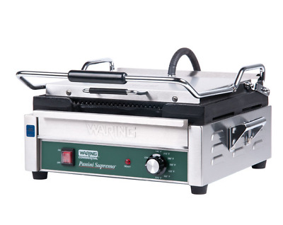 Waring 120V Grooved Top & Bottom Panini Press Sandwich Grill Model No. Wpg250