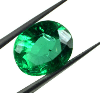 7.60 Ct Muzo Colombian Emerald Gemstone Oval Cut Natural AGSL Certified E5064