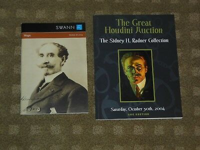 Houdini, 2 NEW auction catalogs from 2004, Swann & Radner Auctions