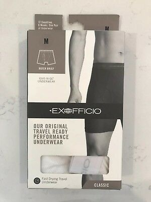 Exofficio Mens Give N Go Boxer Brief - brand new in package - white