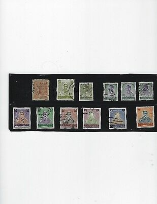 Stamps-1 early Siam issue-11 Thailand -1 cancel reads (KHLONG-CHAN}-used