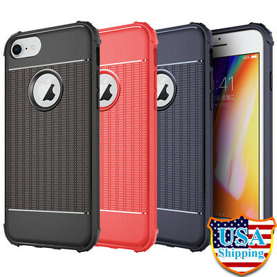 Lot 3 Slim Shockproof Soft Silicon TPU Case Rubber Cover for iPhone 6 7 8 Plus