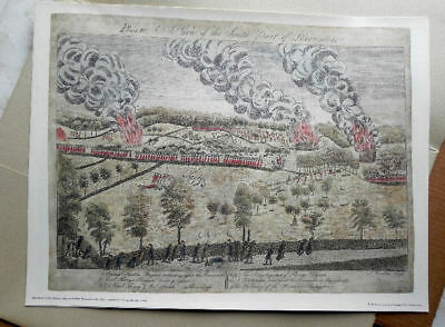 Set of 4 Amos Doolittle Engravings of Concord and Lexington Battle
