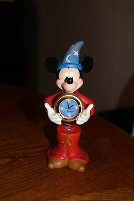 Sorcerer's Apprentice Mickey Mouse Clock With Spring Body by Disney Time Works