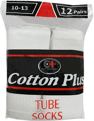 Bulk Men's White Tube Socks - Size 10-13 (Wholesale Case of 240)