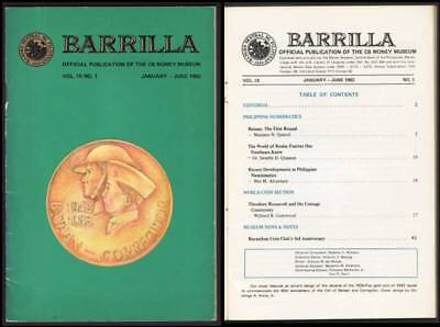 Philippines – 1982 Barrilla, Official Publication, CB Money Museum