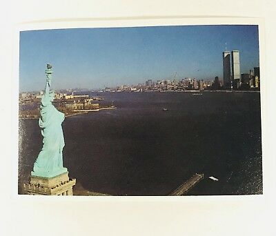 Vtg Picture: 1983 NY New York, Statue of liberty, Twin Towers in background