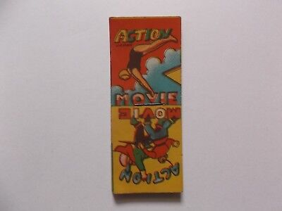 Vintage flip paper action movie book swimming and sword opponents. Japan