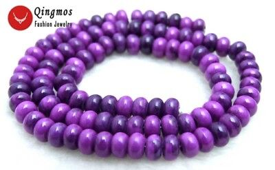 4*6mm Rondelle Purple Natural Sugilite Loose Beads for Jewelry Making DIY 15''