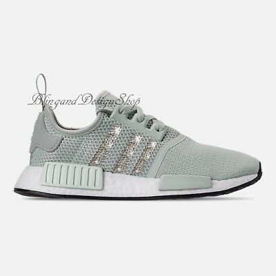 ee294d14cfb71 NWT Women s Bling Adidas NMD R1 Shoe Custom with Swarovski Crystals New in  Box