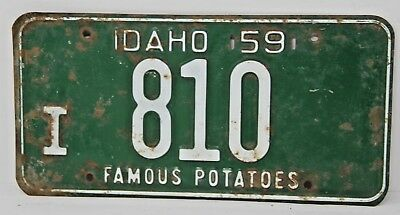 1959 IDAHO License Plate Collectible Antique Vintage Famous Potatoes I 810