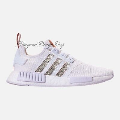 f4f2f14d3e0 NWT Women's Bling Adidas NMD R1 Shoe Custom with Swarovski Crystals New in  Box