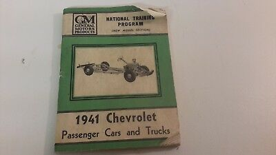 CHEVROLET NATIONAL TRAINING PROGRAM BOOKLET 1941 NEW Models CARS & TRUCKS