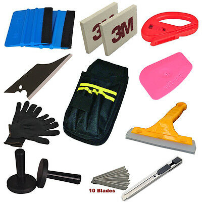 Economy Combo Pro Tool kit Car Vinyl Wrap Squeegee Tools Magnet Snitty cutter US
