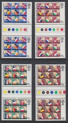 GB EII 1979 European Elections MINT TRAFFIC LIGHT GUTTER PAIRS sg1083-1086 MNH