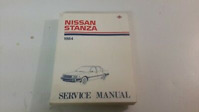 1984 Nissan Stanza Service Repair Manual Original