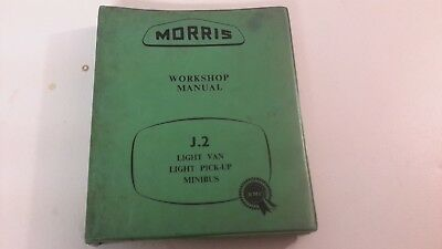 Morris  J.2 Van  Pick Up Minibus  1956  Original Factory Workshop Manual